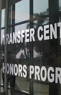 Transfer Center and Honors Program offices at Chaffey College.