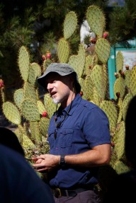 Matthew Friday by the prickly pear cactus